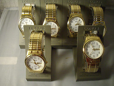 6 New In Box Mens Lorus Watches  Expansion Bands   $29.99  Sold For All 6