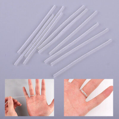 10pc Invisible Ring Size Adjuster Reducer Clip Spiral Style Sungs Sizer