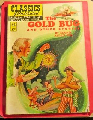 Classics Illustrated #84 The Gold Bug First Edition (1951)  CB329