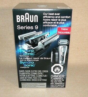 NEW SEALED Braun Series 9, 9-9095cc Men's Wet/Dry Shaving and Cleaning System