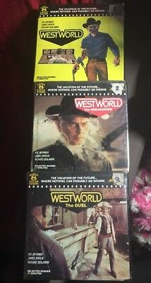 """Super 8 Film""""Westworld""""parts 1,2,3 On 3x400ft Colour/sound.Yul Brynner Very Rare"""