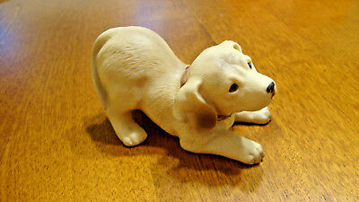 Yellow Labrador retriever ceramic statue, collectable - Perfect for A LAB LOVER!
