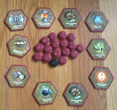 HEROSCAPE Parts 10 Glyphs and 17 Wound Markers Replacement Parts