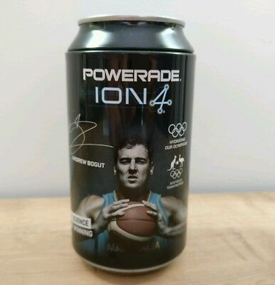 POWERADE Piggy Bank Drink Can Coin Collector Ion 4 Andrew Bogut Olympics Rare
