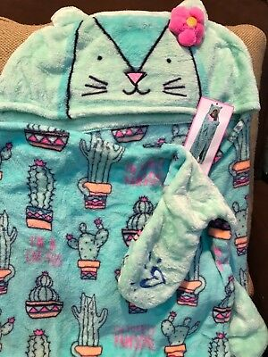 Justice Cactus ( I'M A Cat-Tus/ I'M Totally Pawsome) Cozy Blanket So Soft & Cute