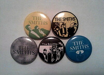 "5 x The Smiths 1"" Pin Button Badges ( morrissey uk manchester alternative music)"