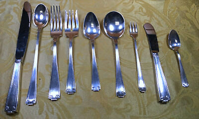 100 Piece Vintage 8 Plus Place Setting of Etruscan by Gorham Sterling Flatware