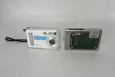Lot of 2 Digital Cameras Olympus Stylus & Polaroid A520 Untested