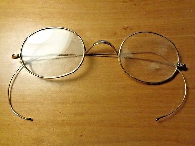 """Vintage """"C A"""" Gold Filled Reading Glasses/Round Spectacles - 10/12K ?"""