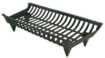 Pleasant Hearth Fireplace Cast Iron Grate Floor Heating Fire Log Heater 27 inch