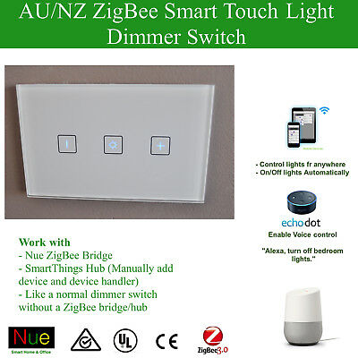 AU/NZ Smart Dimmer Switch for Google Home Amazon Echo Alexa Dim Control lights