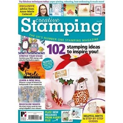 Creative Stamping Magazine Issue 50 With Free Hunydory A4 Stamp Set