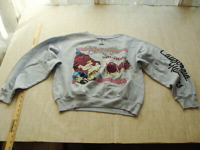 Vtg 80's Punk Retro California Raisen Gray Shirt Sweatshirt Unisex Men Woman M/L