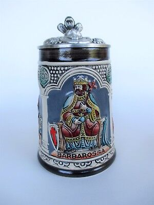 Gerz German Beer Stein Knights 1983/9 Limited Edition West Germany #2963