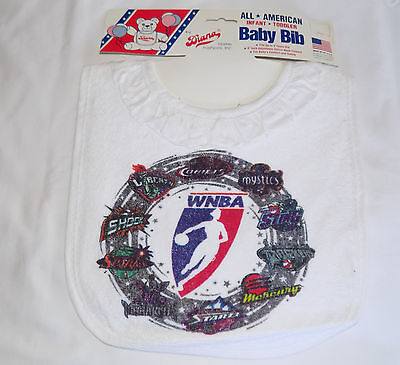 All American Infant Toddler Baby Bib Wnba Basketball Made In Usa