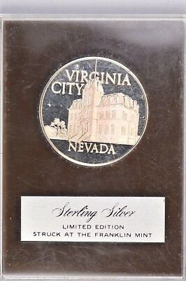 Virginia City Nevada Sterling Silver Medal .99c NO RESERVE
