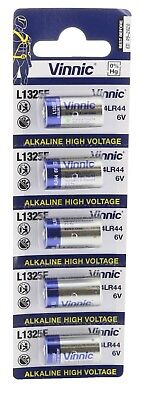 Pack of 5 Genuine Vinnic 476A 4LR44 A544 V403PX PX28A Alkaline 6 V Batteries
