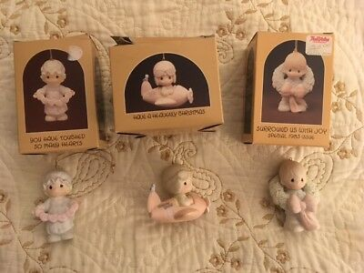 (3) Precious Moments Christmas Ornaments, 112356, E-0513, 12416, with boxes, #1