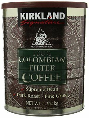 Kirkland Signature - 100  Colombian Filter Coffee Supremo Bean Dark Roast Fine G