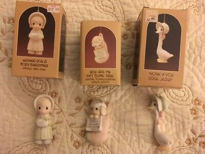(3) Precious Moments Christmas Ornaments, 102326, 520276, 15857, with boxes, #2