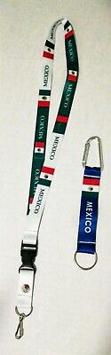 Mexican FLAG LANYARD & Keychain Neck strap ID Holder Breakaway MEXICO green red
