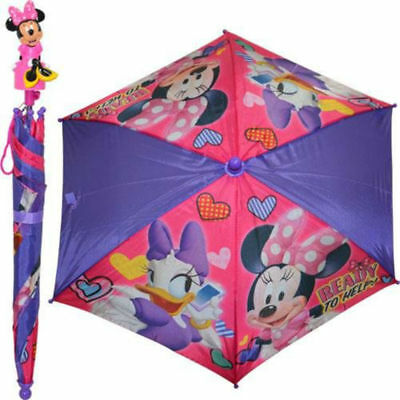 Disney Minnie Mouse & Daisy Duck Ready To Help Umbrella with 3D Mold Handle