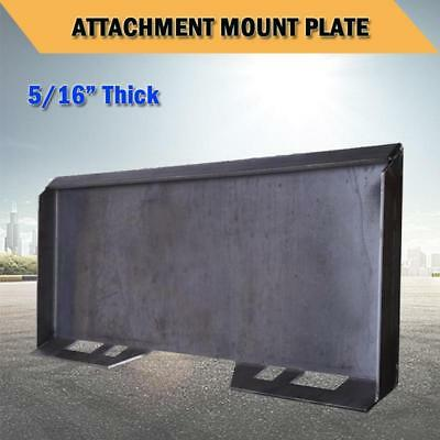 5/16 Quick Tach Attachment Mount Plate For Skid steer bobcat kubota Heavy Duty