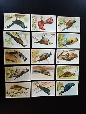 1927 set of 15 Useful Birds of America  Arm and Hammer collector cards