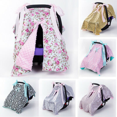 US Car Seat Canopy Newborn Baby Cover Keeps Infant Warm in Winter Cool in Summer