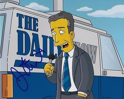 Jon Stewart Signed 8X10 Photo The Daily Show Simpsons Comedian Autograph Auto A
