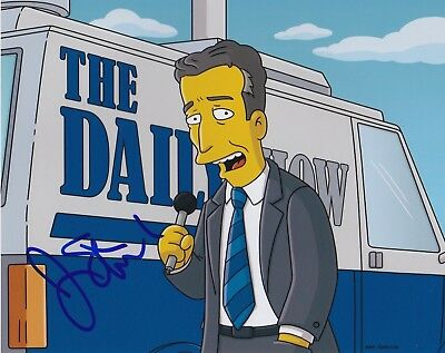 Jon Stewart Signed 8X10 Photo The Daily Show Simpsons Comedian Autograph Auto C