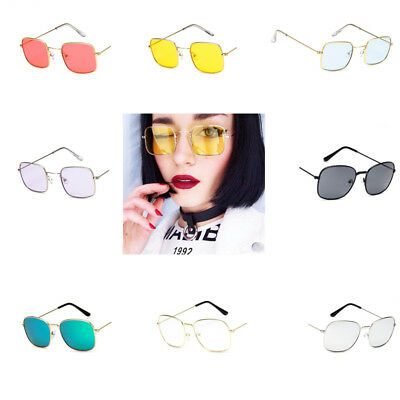 Newly Strong Trend Transparent Comfortable Curved Retro Small Square Sunglasse