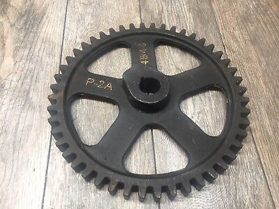 Large Vintage industrial steampunk cast iron gear sprocket lamp base project
