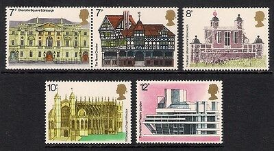 GB 1975 sg975-979 European Architectural Heritage Year set MNH Architecture