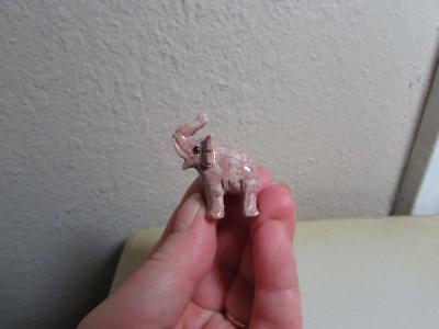 Elephant, Solid stone Hand carved from the Andes, Miniature Richly Hued Elephant