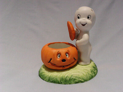 CASPER THE FRIENDLY GHOST PORCELAIN CANDLE HOLDER For Christmas! Excellent Cond.