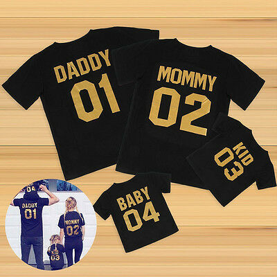 AU Stock Family Matching Tops DADDY MOMMY KID BABY Shirt T-shirt Couple Clothes