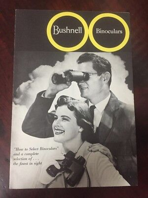 Bushnell Binoculars Catalog 1960s Vtg Advertising Print Banner Featherlight 1963