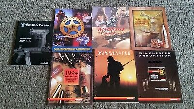 Lot of 7 Vintage Original  Winchester Catalogs 1990's New Old Stock
