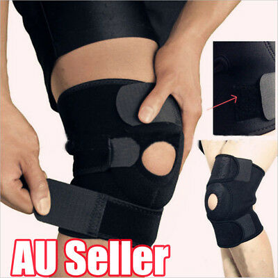 Neoprene Patella Black Elastic Knee Brace Fastener Support Guard Gym Sport Bo
