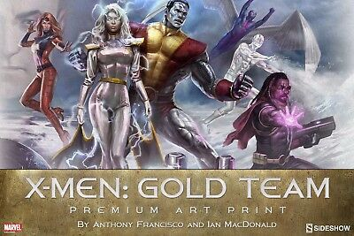 Premium Art Print by Sideshow Collectibles Xmen Gold Team