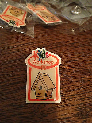 BB1- Home Depot Kids Workshop Pin - Birdhouse / Bird House New in bag  Lot of 17