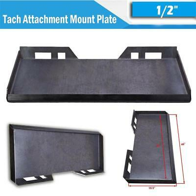 "1/2"" Thick Quick Tach Attachment Mount Plate For Skid steer bobcat kubota Supply"