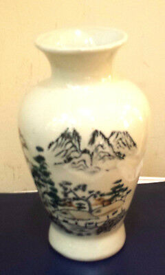 vintage asian vase,beautifully hand decorated