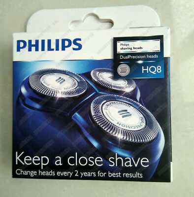 3X Genuine Philips haver Razor Replacement Blades Heads for HQ8/52