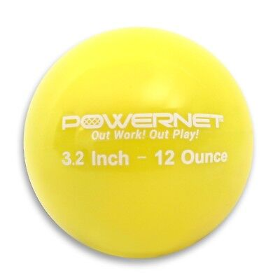 (12 Oz - Yellow) - PowerNet 8.1cm Weighted Hitting and Batting Training Ball