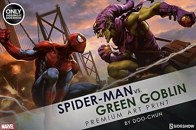 Premium Art Print by Sideshow Collectibles Spiderman Vs Green Goblin