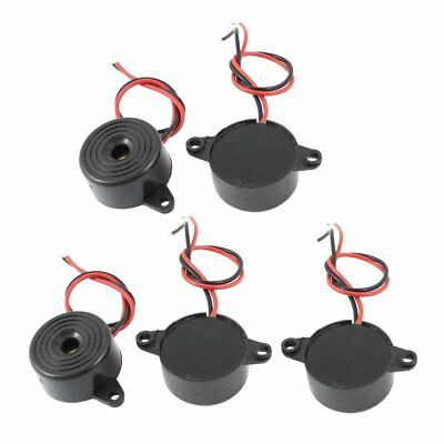 5 Pcs DC 3-24V 85dB Sound Electronic Buzzer Alarm Black 23 x 12mm V8I6 Y6D5