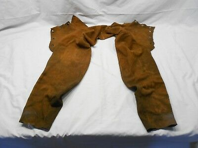 Welders Protective Cowhide Leather Cape Sleeves, Preowned