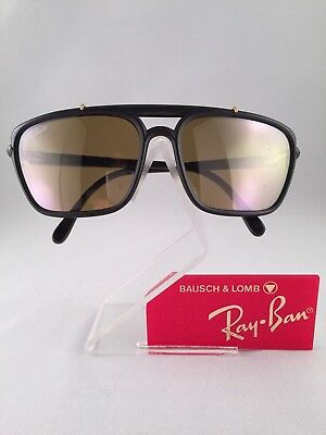 Vintage Ray Ban Bausch and Lomb Matte Black RB50 Anniversary Sunglasses USA